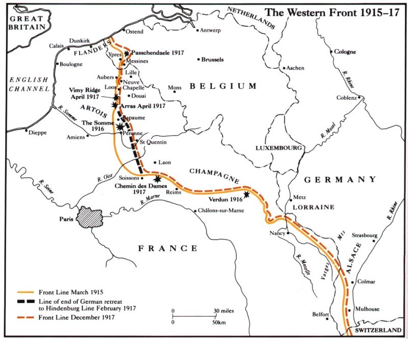 Map Of France Vimy.The Whitby High School Wwi Battlefields History Trip Index Page